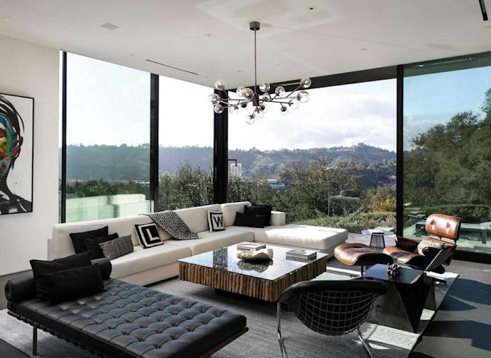 Inside the sleek, minimalist living spaces of Ken Kao's new Beverly Hills mansion.