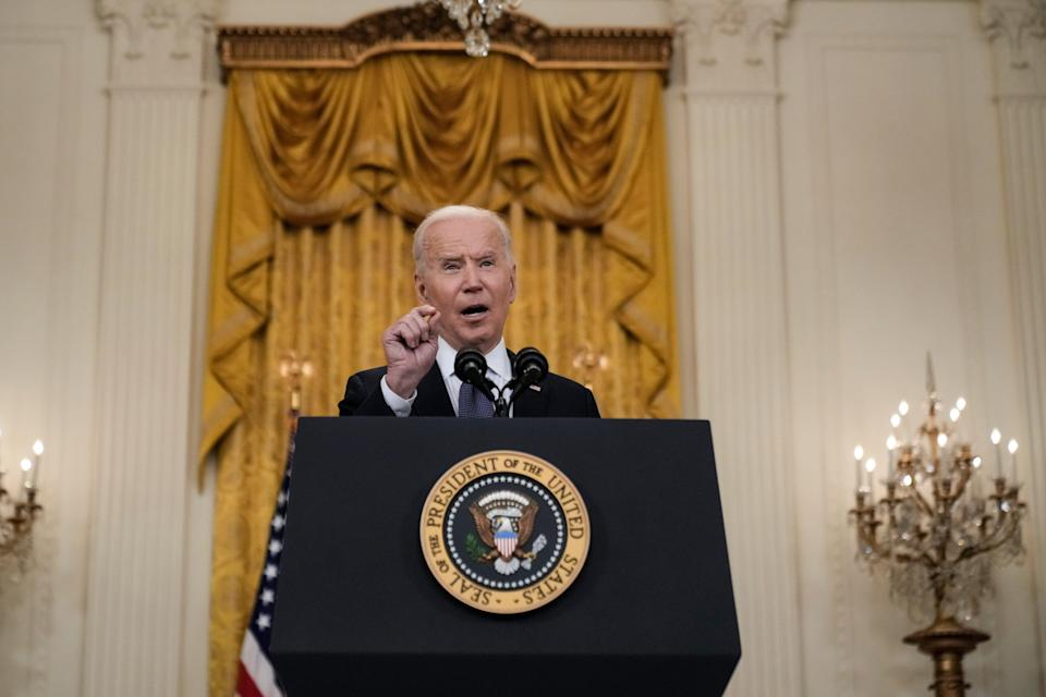 <p>Joe Biden says he will speak to Russia President Putin about the Colonial Pipeline cyberattack</p> (Getty Images)