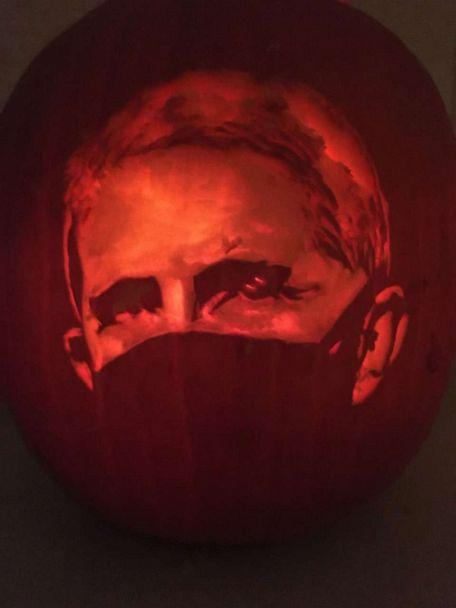PHOTO: A pumpkin carving of Dr. Fauci.  (Suzy Mink )