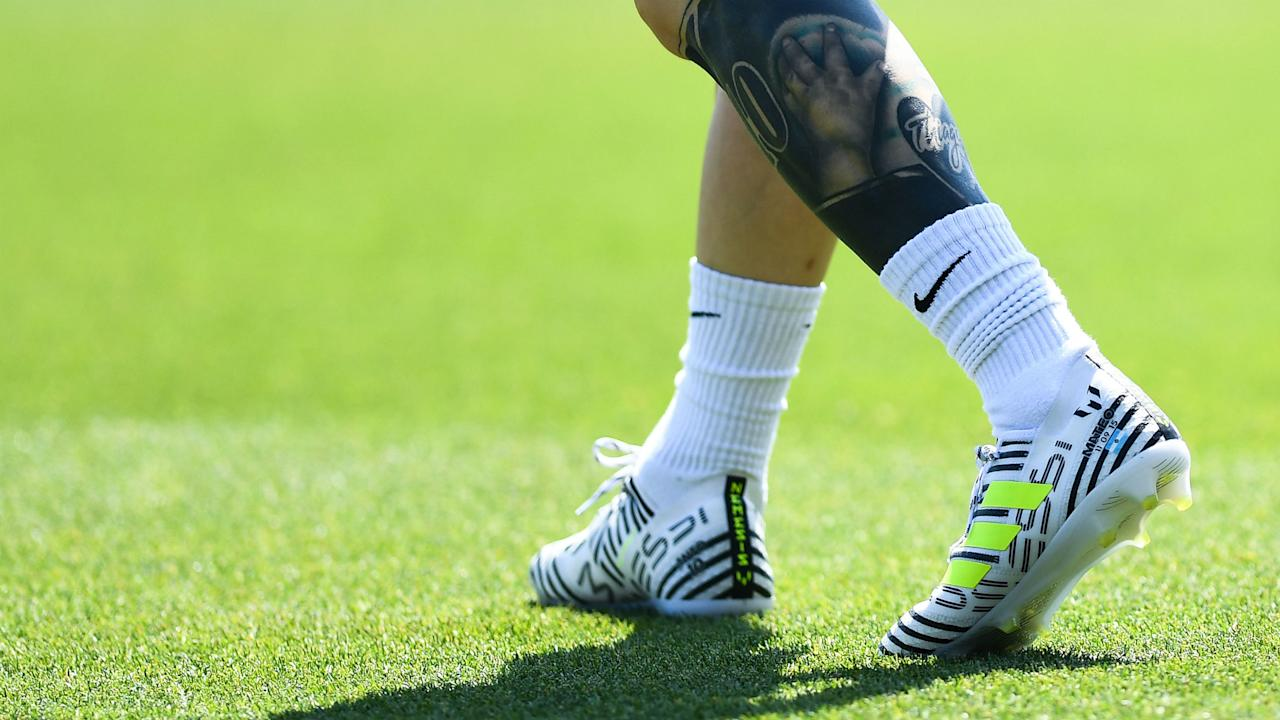 The Argentine star will be sporting some fresh footwear when Barcelona end their season against Alaves in the Copa del Rey final on Saturday night