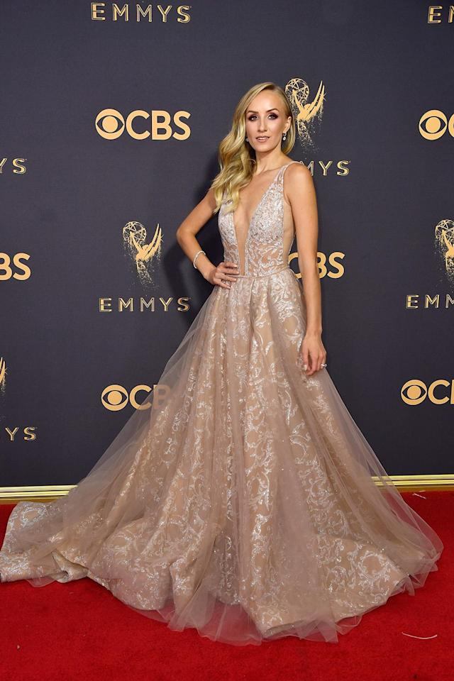 <p>Nastia Liukin attends the 69th Annual Primetime Emmy Awards at Microsoft Theater on September 17, 2017 in Los Angeles, California. (Photo by Frazer Harrison/Getty Images) </p>