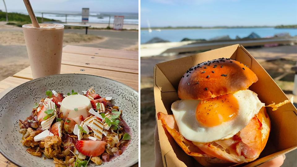 breakfast at Coast and little shack