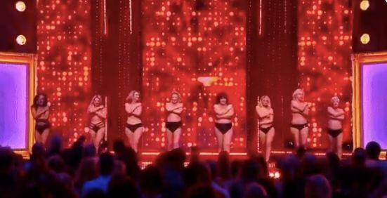 The 'Full Monty' celebrity cast have been praised for raising awareness of cancer [Photo: ITV]
