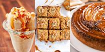 """<p>Bananas are a top-tier ingredient, especially when it comes to <a href=""""https://www.delish.com/uk/cooking/recipes/g33631981/easy-desserts/"""" rel=""""nofollow noopener"""" target=""""_blank"""" data-ylk=""""slk:desserts"""" class=""""link rapid-noclick-resp"""">desserts</a> (although <a href=""""https://www.delish.com/uk/cooking/recipes/a34725430/banana-pancake-recipe/"""" rel=""""nofollow noopener"""" target=""""_blank"""" data-ylk=""""slk:Banana Pancakes"""" class=""""link rapid-noclick-resp"""">Banana Pancakes</a> for brunch, yes please). The potassium-rich fruit has the perfect balance of sweetness to make any recipe drool-worthy. Just take our <a href=""""https://www.delish.com/uk/cooking/recipes/a35762716/brioche-bread-and-butter-pudding/"""" rel=""""nofollow noopener"""" target=""""_blank"""" data-ylk=""""slk:Banoffee Brioche Bread and Butter Pudding"""" class=""""link rapid-noclick-resp"""">Banoffee Brioche Bread and Butter Pudding</a> for example, it's stuffed with banana slices for the ultimate banoffee pie twist, and it's insane. Likewise with our <a href=""""https://www.delish.com/uk/cooking/recipes/a28869255/banana-ice-cream/"""" rel=""""nofollow noopener"""" target=""""_blank"""" data-ylk=""""slk:Three-Ingredient Banana Ice Cream"""" class=""""link rapid-noclick-resp"""">Three-Ingredient Banana Ice Cream</a>, it oozes banana flavour and it's zero effort. </p><p>So if an unusual craving for banana has come on as you read this (we don't blame you), be sure to take a look at some of our all-time favourite banana recipes now...</p><p>Not the banana-type? Give our <a href=""""https://www.delish.com/uk/cooking/recipes/g32485381/strawberry-recipes/"""" rel=""""nofollow noopener"""" target=""""_blank"""" data-ylk=""""slk:Strawberry Recipes"""" class=""""link rapid-noclick-resp"""">Strawberry Recipes</a> a go, instead. </p>"""