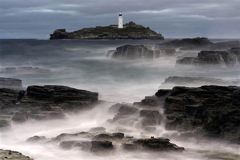 David Pulford, Dusk at Godrevy Lighthouse, Cornwall, Commended in the Classic View category.