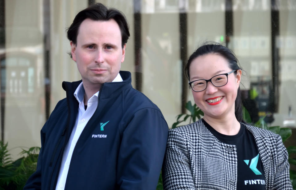 Fintern Founders: Gerald Chappell and Michelle He