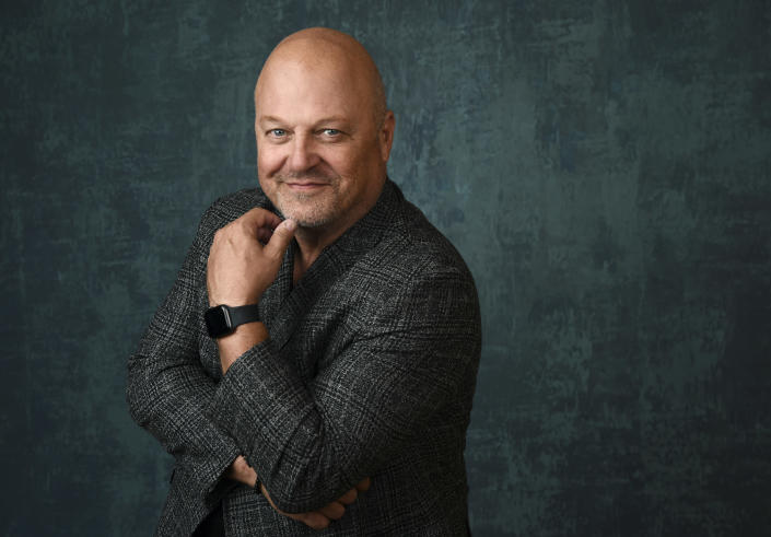 """FILE - Michael Chiklis, star and executive producer of the Paramount Network series """"Coyote,"""" poses for a portrait during the Winter Television Critics Association Press Tour on Jan. 14, 2020, in Pasadena, Calif. Chiklis turns 58 on Aug. 30. (AP Photo/Chris Pizzello, File)"""