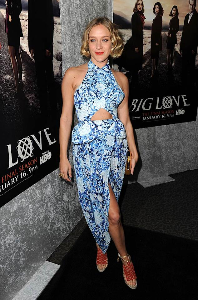 "We love Chloe Sevigny's willingness to take big fashion risks, but we don't happen to adore the flashy Rodarte frock and even louder Christian Louboutin heels she dared to don to the fifth season premiere of HBO's ""Big Love"" at the Directors Guild of America. Kevin Winter/<a href=""http://www.gettyimages.com/"" target=""new"">GettyImages.com</a> - January 12, 2011"