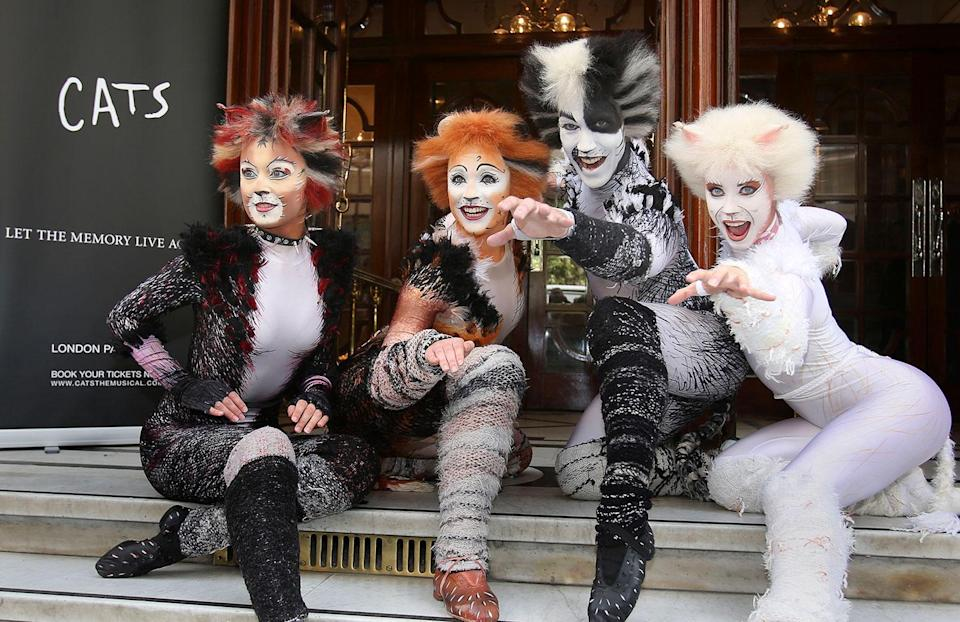 Performers from the musical <i>Cats</i> during a photocall outside the London Palladium in central London. (Philip Toscano/PA Archive/PA Images)