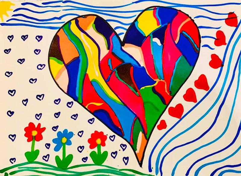 Clare Rigden created Drawings for Oldies to brighten the days of those in aged care facilities. Photo: Facebook