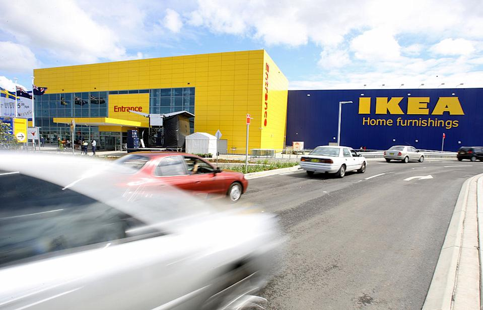 Traffic moves past the Ikea Tempe store in Sydney, Australia.