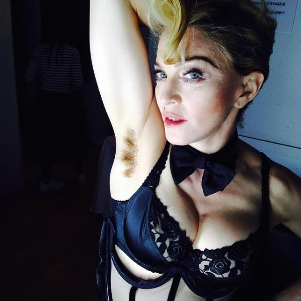 """<p>Lourdes's mom Madonna posted this bold snap of her unshaven pits to <a href=""""https://www.instagram.com/p/lyd1r7GEQu/"""" rel=""""nofollow noopener"""" target=""""_blank"""" data-ylk=""""slk:Instagram"""" class=""""link rapid-noclick-resp"""">Instagram</a> in 2014. """"Long hair…… Don't Care!!!!!! #artforfreedom #rebelheart #revolutionoflove"""" the Rebel Heart singer captioned alongside the pic. It quickly went viral, garnering more than 54,000 likes. <em>(Photo: Instagram)</em> </p>"""