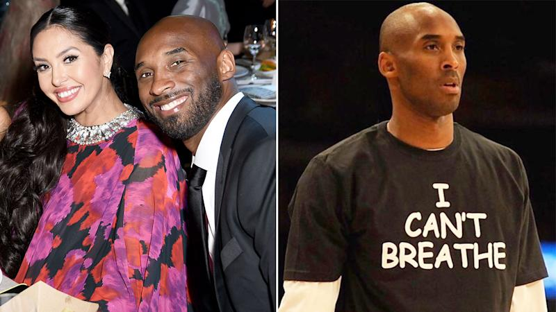 Pictured here, Vanessa Bryant and her late husband Kobe.