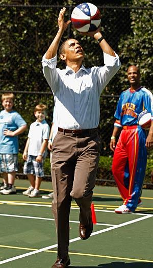 President Obama often plays basketball as part of his fitness routine. Chip Somodevilla/Getty Images