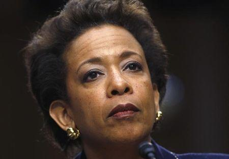 Lynch testifies during her Senate Judiciary Committee confirmation hearing to become U.S. attorney general on Capitol Hill in Washington