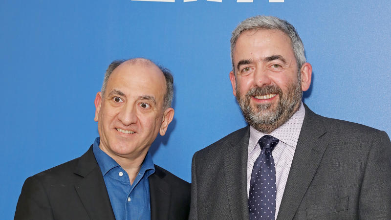 Armando Iannucci and Simon Blackwell at the 22nd British Independent Film Awards. (Photo by Dave Benett/Getty Images)
