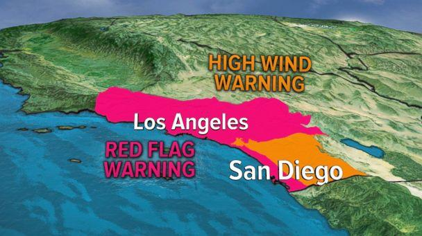 PHOTO: There is Red Flag Warning for Southern California. ( )