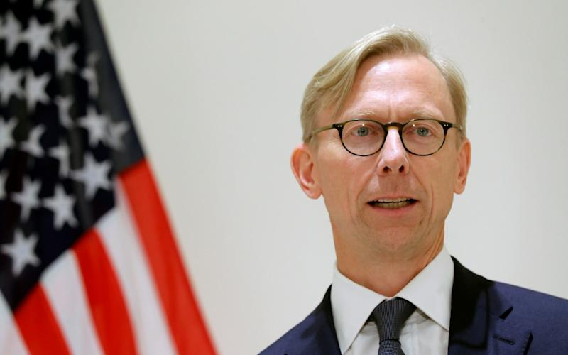 Brian Hook outlined the Trump administration's initiative for maritime security in the Strait of Hormuz - REUTERS