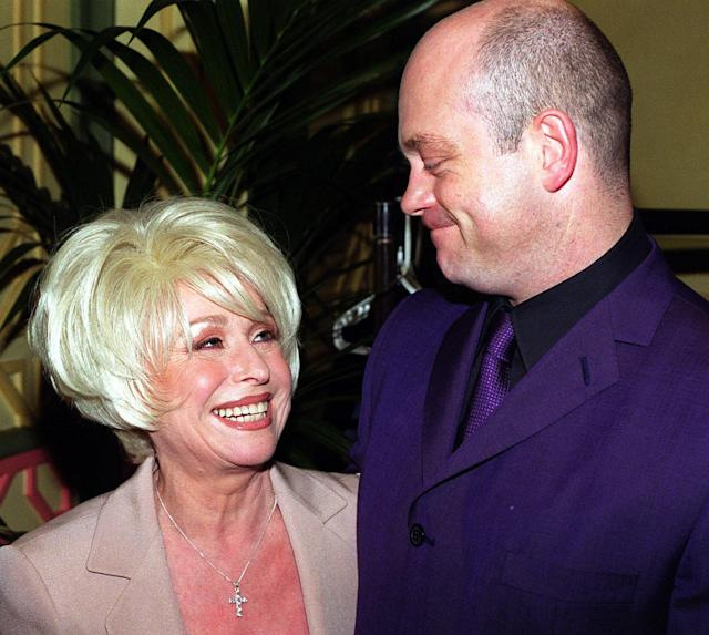 Barbara Windsor with Ross Kemp, at The Dorchester Hotel, London, for a Variety Club lunch in her honour.
