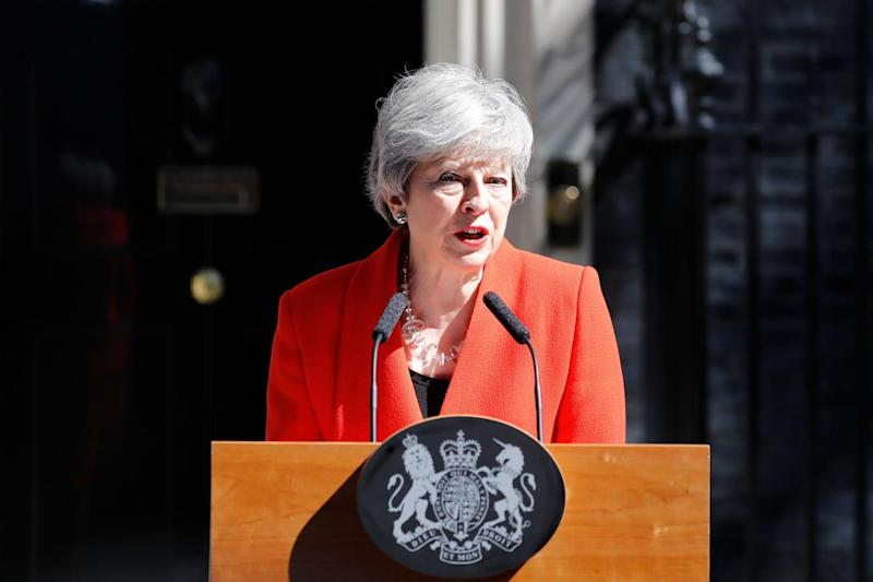 Theresa May announced she will resign as Tory leader on June 7 (AFP/Getty Images)