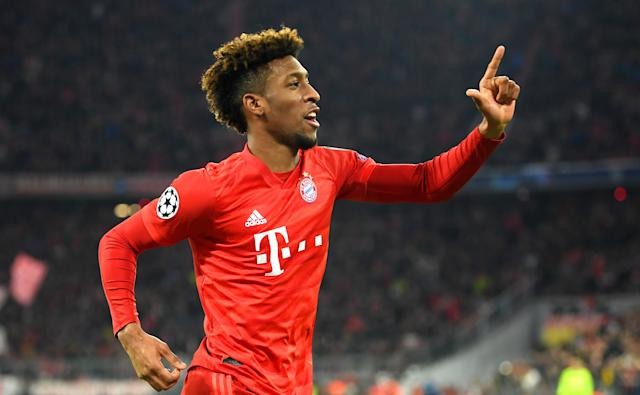 Coman put Munich ahead before going off injured (Photo by Michael Regan/Getty Images)