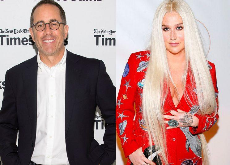 Jerry Seinfeld and Kesha shared an awkward moment a few nights ago