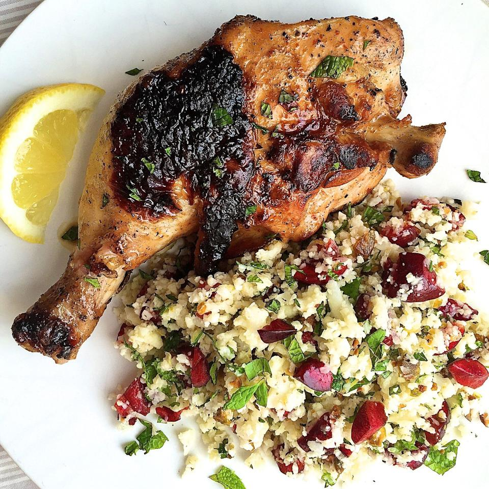 """<p>Who knew finely chopped cauliflower makes such a brilliant stand-in for couscous? </p><p>Get the recipe from <a rel=""""nofollow"""">Delish</a>.<br></p>"""