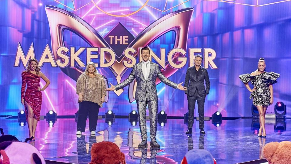 Some pointed out another event that got an exemption from the state's rules was Hughesy's own show, The Masked Singer. Photo: Ten