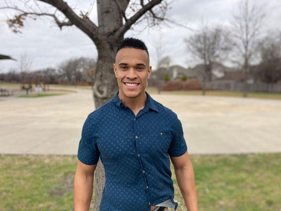 """<p>Oh hey, little gust of wind that hit his shirt hem. Quartney is a medical sales rep with a biology degree from Stephen F Austin University. He's also into fitness.</p><p><strong>Age: 26</strong></p><p><strong>Hometown: Arlington, TX</strong></p><p><strong>Instagram: <a href=""""https://www.instagram.com/quartneymixon/"""" rel=""""nofollow noopener"""" target=""""_blank"""" data-ylk=""""slk:@quartneymixon"""" class=""""link rapid-noclick-resp"""">@quartneymixon</a></strong></p>"""