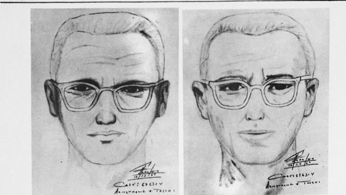 """San Francisco police circulated this composite of the Bay Area's """"Zodiac"""" killer. At left is a drawing from witnesses to slaying of a cab driver in San Francisco. A team that goes over unsolved cases said they identified the Zodiac Killer. <span class=""""copyright"""">Getty Images</span>"""