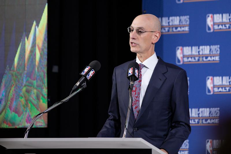 Commissioner Adam Silver and the NBA are considering major changes to its postseason structure. Mandatory Credit: Chris Nicoll-USA TODAY Sports
