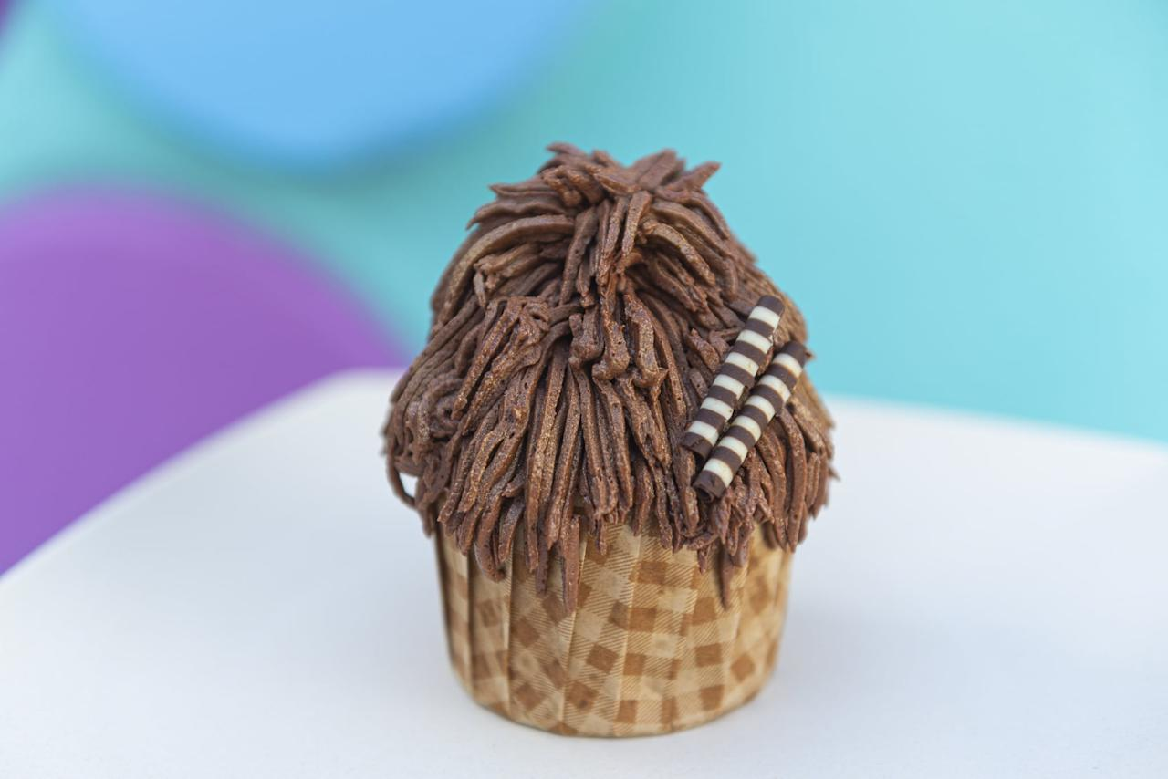<p>A chocolate cupcake filled with chocolate-hazelnut spread and topped with chocolate-hazelnut buttercream frosting and a chocolate candy sash. Available now until Sept. 21 at at Everything POP Shopping &amp; Dining at Disney's Pop Century Resort and Landscape of Flavors at Disney's Art of Animation Resort.</p>