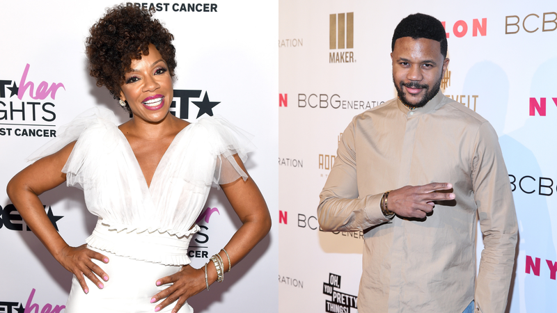 Wendy Raquel Robinson attends 'BET Her Fights Breast Cancer' special event on September 25, 2019; Hosea Chanchez attends the Nylon + BCBGeneration May Young Hollywood Party on May 8, 2014.