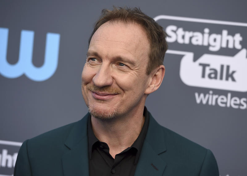 David Thewlis arrives at the 23rd annual Critics' Choice Awards at the Barker Hangar on Thursday, Jan. 11, 2018, in Santa Monica, Calif. (Photo by Jordan Strauss/Invision/AP)