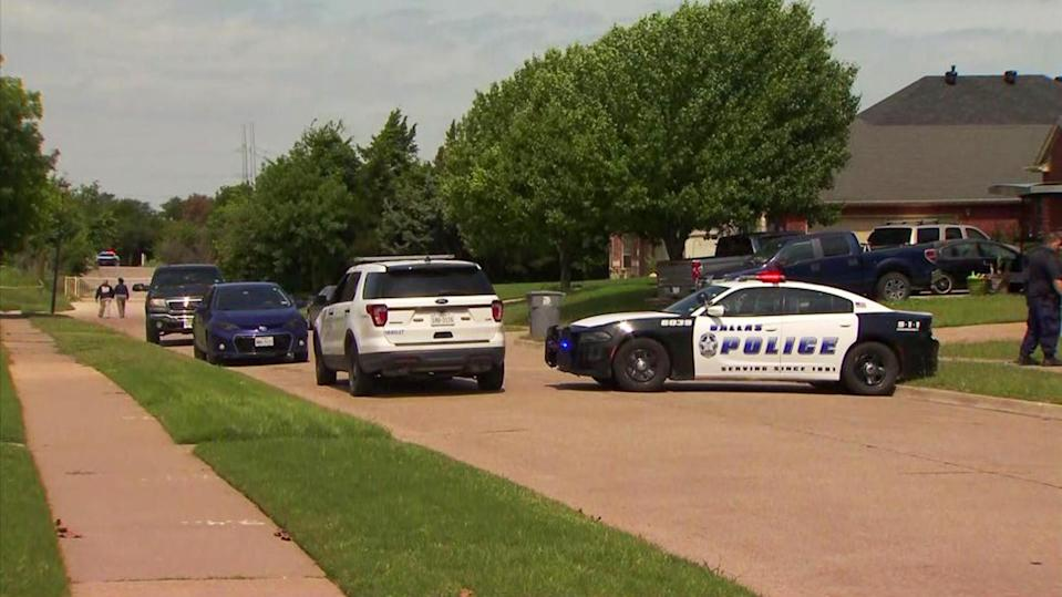 Dallas police are searching for the person who may have killed a young boy in the Mountain Creek area on May 15, 2021. (NBC5 Dallas)