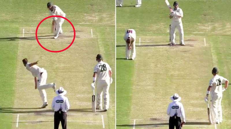 Charlie Wakim, pictured here getting a huge reprieve in the Sheffield Shield.
