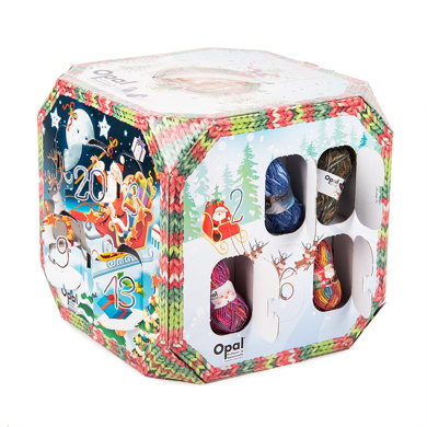 """<p>The perfect gift for knitters. Countdown the days to Christmas with this unique cube-shaped advent calendar. Each day a new window reveals a surprise mini ball of Opal 4 ply sock yarn.</p><p>£55 <a href=""""http://www.loveknitting.com/opal-advent-calendar-box"""" rel=""""nofollow noopener"""" target=""""_blank"""" data-ylk=""""slk:Love Knitting"""" class=""""link rapid-noclick-resp"""">Love Knitting</a></p>"""