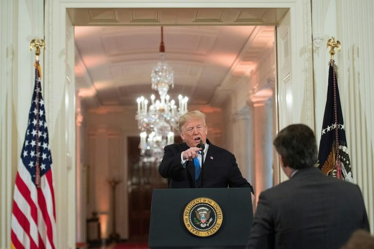 Aides to President Donald Trump, seen in a heated exchange with CNN correspondent Jim Acosta in 2018, stepped up attacks on the media after a two-year investigation concluded he did not collude with Russia in the 2016 election