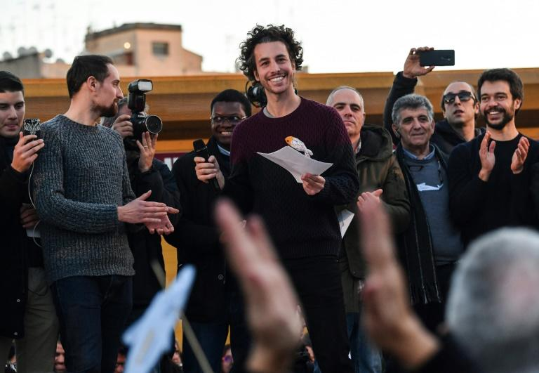 """Mattia Santori told the crowd the idea was to """"bring out a new energy"""""""