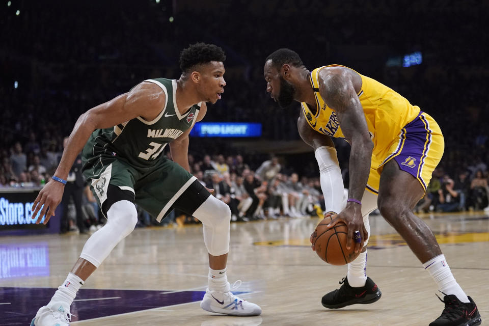 At what point does the NBA prioritize starting next season over crowning a champion for this season? (AP Photo/Mark J. Terrill)
