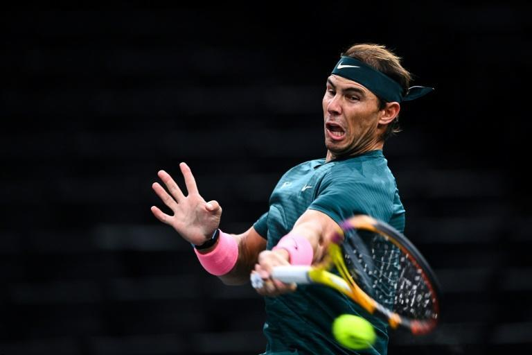 Nadal has never failed to reach the Paris Masters quarter-finals