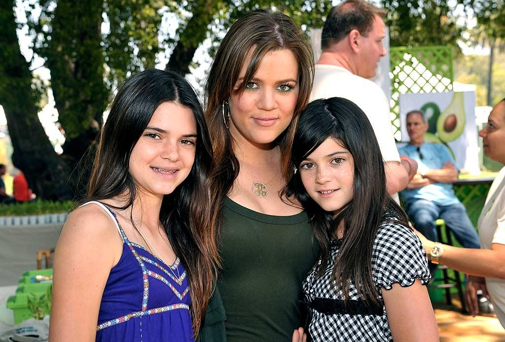 "Khloe Kardashian poses for a family photo with half-sisters Kendall and Kylie Jenner. That family sure loves names that begin with ""K""! Lester Cohen/<a href=""http://www.wireimage.com"" target=""new"">WireImage.com</a> - June 8, 2008"