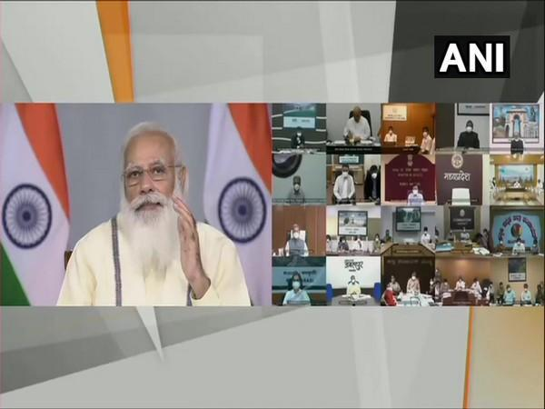 PM Modi interaction with field official in COVID duty (Photo/ANI)