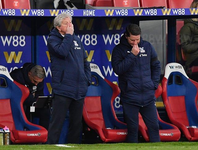 Crystal Palace manager Roy Hodgson, left, admitted his side did not make it difficult for Chelsea