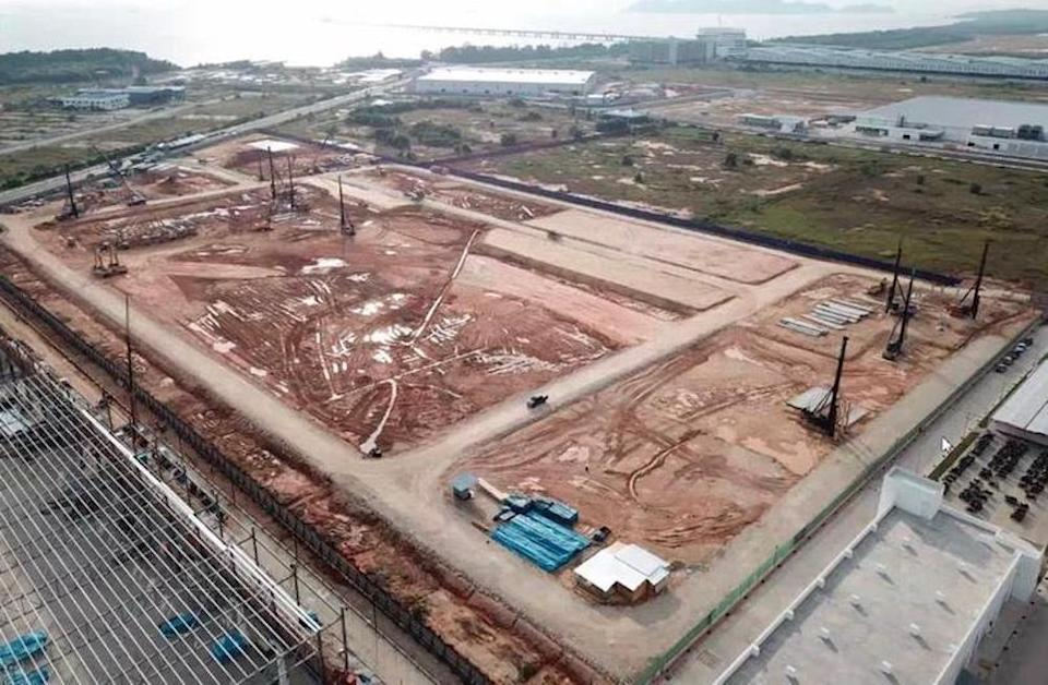 Construction on the new Simmtech plant in Batu Kawan, Penang started in May this year. — Picture courtesy of Simmtech