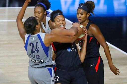 Aces top Lynx 87-77 for sole possession of 2nd place