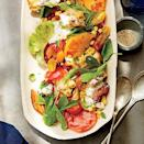 """<p>Use the showiest farmers' market or garden tomatoes in a dish that deliciously combines a favorite sandwich and a classic <a href=""""https://www.myrecipes.com/italian-recipes"""" rel=""""nofollow noopener"""" target=""""_blank"""" data-ylk=""""slk:Italian"""" class=""""link rapid-noclick-resp"""">Italian</a> salad, with a touch of corn and basil thrown in for extra summery flair.</p>"""
