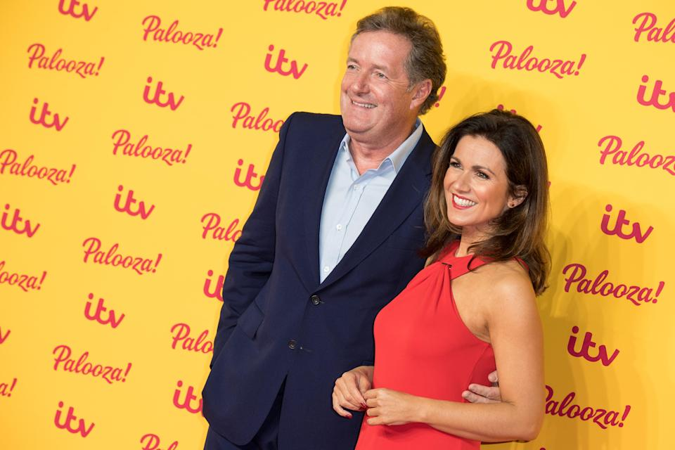 Piers Morgan and fellow Good Morning Britain host Susanna Reid (Photo by Jeff Spicer/WireImage)