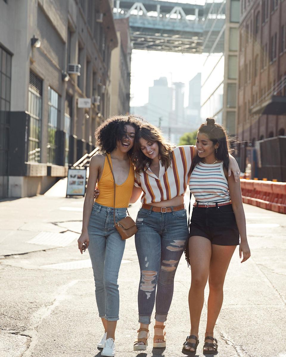 "<p>Chances are you wouldn't heap negativity on your closest friends and their bodies, right? So talk to yourself <a href=""https://www.popsugar.com/fitness/Why-You-Shouldnt-Criticize-Your-Body-Front-Friends-46517894"" class=""link rapid-noclick-resp"" rel=""nofollow noopener"" target=""_blank"" data-ylk=""slk:the way you'd talk to your best friend"">the way you'd talk to your best friend</a>. ""For some reason, we humans seem to save our worst words for ourselves, and that isn't going to help with this,"" Dr. Gilliland told POPSUGAR. So pretend the person in the mirror is someone you care deeply about, and show yourself the same kindness.</p>"
