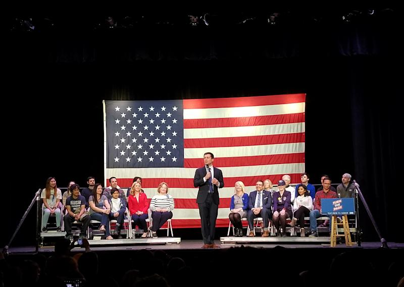 Pete Buttigieg, speaks during a campaign event in Concord, New Hampshire on February 4, 2020. (Christopher Wilson/Yahoo News)